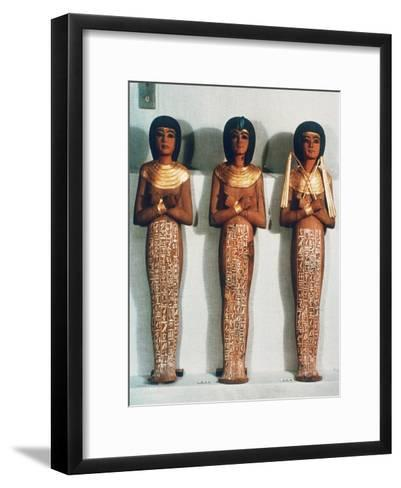 Three Shabtis or Servant Figures, Tutankhamun Funerary Object, 18th Dynasty--Framed Art Print
