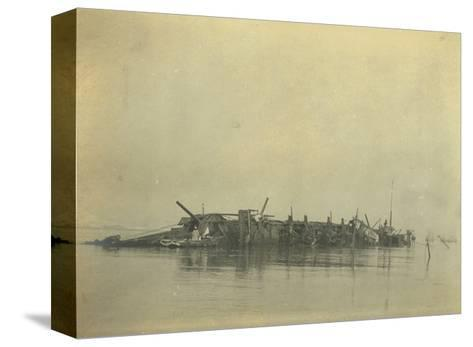 Sinking of the Cruiser 'Varyag' at the Battle of Chemulpo Bay, Russo-Japanese War, 1904--Stretched Canvas Print