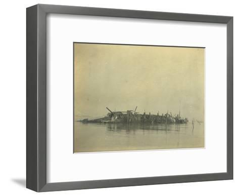 Sinking of the Cruiser 'Varyag' at the Battle of Chemulpo Bay, Russo-Japanese War, 1904--Framed Art Print