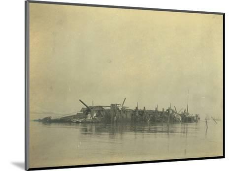 Sinking of the Cruiser 'Varyag' at the Battle of Chemulpo Bay, Russo-Japanese War, 1904--Mounted Giclee Print