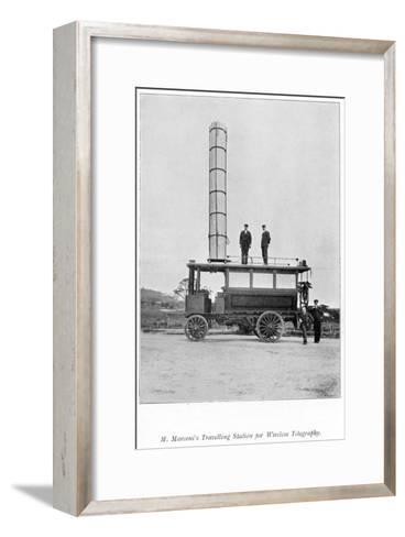 Mobile Radio Station Used by Marconi, 1900--Framed Art Print