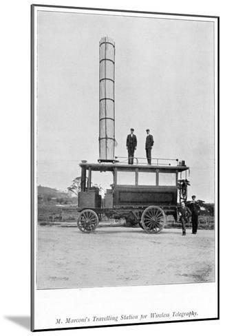 Mobile Radio Station Used by Marconi, 1900--Mounted Giclee Print