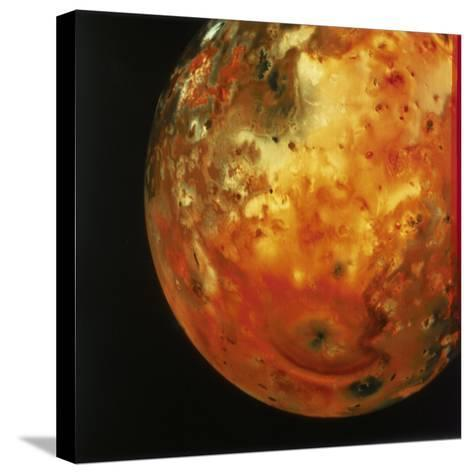 Nearly Full View of Io, One of the Moons of Jupiter, 1979--Stretched Canvas Print