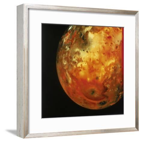 Nearly Full View of Io, One of the Moons of Jupiter, 1979--Framed Art Print