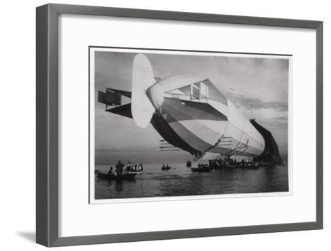 Lz 6 Entering a Floating Hanger, Halle, Germany, C1909-1910--Framed Art Print