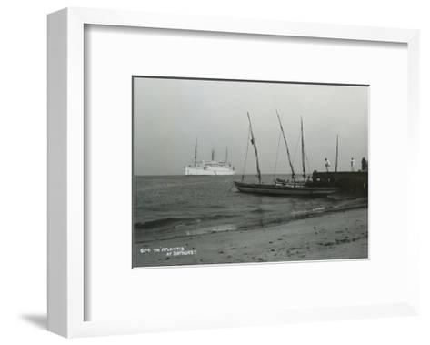 Steamship 'Atlantis' Off Bathurst, Gambia, 20th Century--Framed Art Print