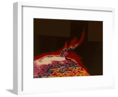 False Colour Image of a Solar Flare from Skylab, 1973--Framed Art Print