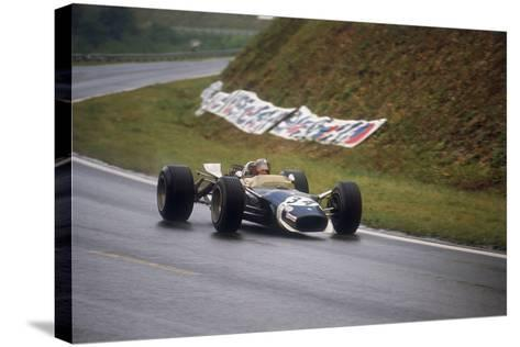 Jo Siffert's Lotus-Ford, French Grand Prix, Rouen, 1968--Stretched Canvas Print
