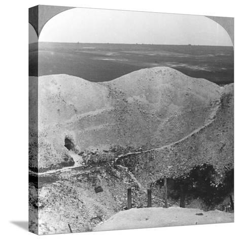Mine Crater at La Boiselle, the Somme, France, World War I, C1916-C1918--Stretched Canvas Print