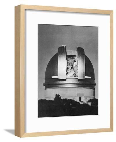 200 Inch Hale Telescope at Palomar Observatory, California, at Night, C1948--Framed Art Print