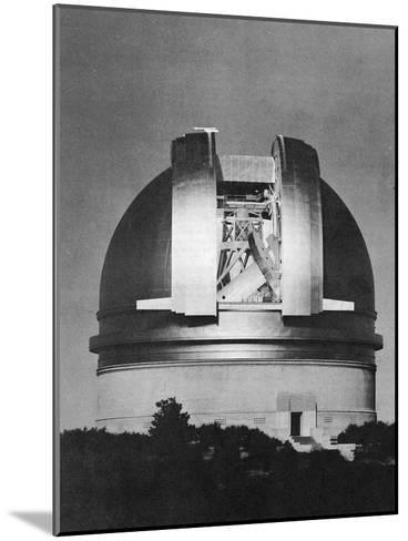 200 Inch Hale Telescope at Palomar Observatory, California, at Night, C1948--Mounted Giclee Print