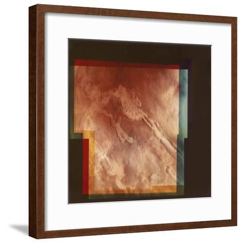 Part of the Grand Canyon, Marineris Vallis, on Mars, 1976--Framed Art Print
