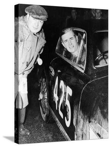 Tommy Wisdom, Winner of the Grand Turismo Class of the Mille Miglia, 1951--Stretched Canvas Print