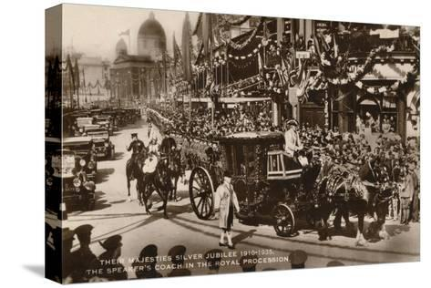 Their Majesties Silver Jubilee 1910-1935, the Speaker's Coach in the Royal Procession--Stretched Canvas Print