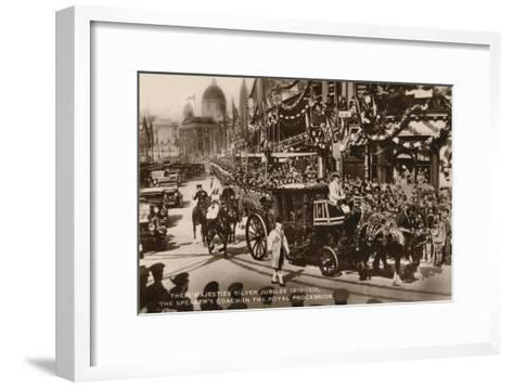 Their Majesties Silver Jubilee 1910-1935, the Speaker's Coach in the Royal Procession--Framed Art Print