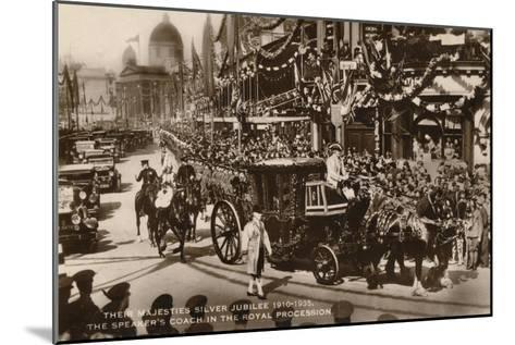 Their Majesties Silver Jubilee 1910-1935, the Speaker's Coach in the Royal Procession--Mounted Giclee Print
