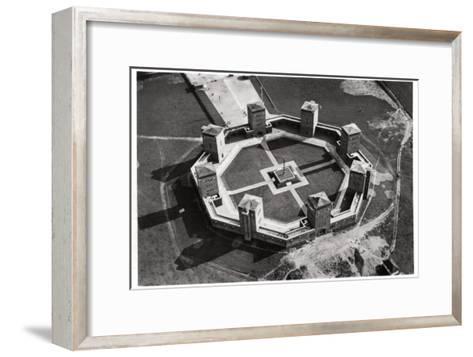 Aerial View of the Tannenberg Memorial, Near Olsztynek, Poland, from a Zeppelin, C1931--Framed Art Print