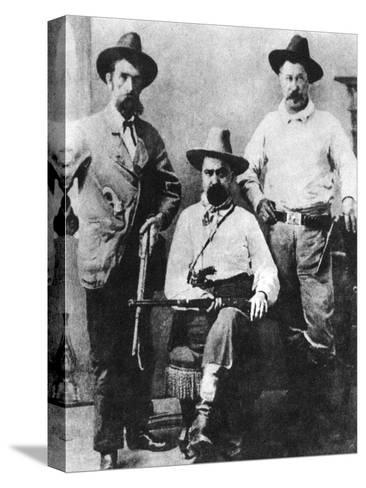 William a Pinkerton, Flanked by Two Express Agents, C1870S-1880S--Stretched Canvas Print