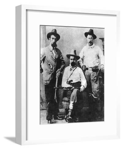 William a Pinkerton, Flanked by Two Express Agents, C1870S-1880S--Framed Art Print