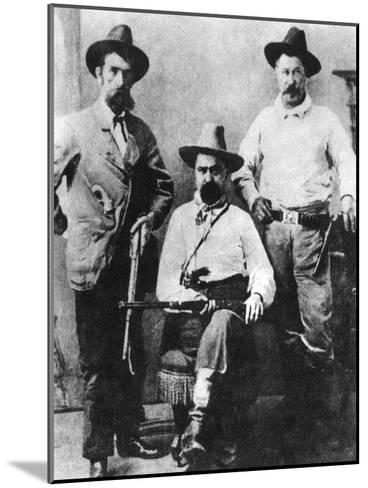 William a Pinkerton, Flanked by Two Express Agents, C1870S-1880S--Mounted Giclee Print