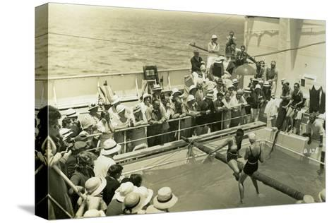 Swimming Pool on Board the Rml 'Atlantis, C1929-C1939--Stretched Canvas Print