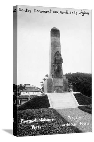 French Foreign Legion Monument, Sontay, Vietnam, 20th Century--Stretched Canvas Print