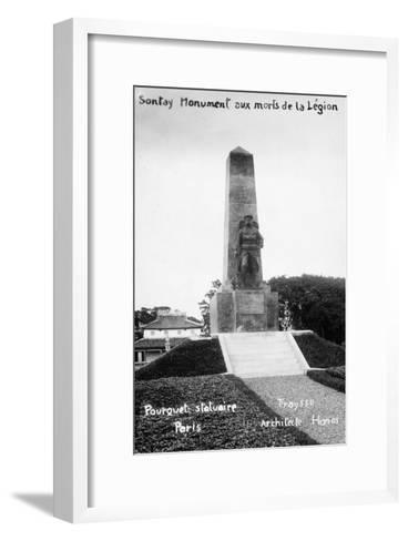 French Foreign Legion Monument, Sontay, Vietnam, 20th Century--Framed Art Print