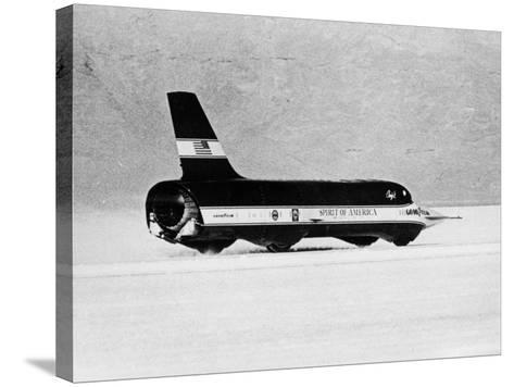 Spirit of America Sonic I' Breaking the Land Speed Record, Bonneville Salt Flats, Utah, USA, 1965--Stretched Canvas Print