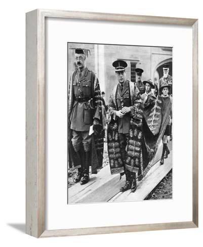 The Prince of Wales as Chancellor of the University of Wales, Bangor, 1923--Framed Art Print