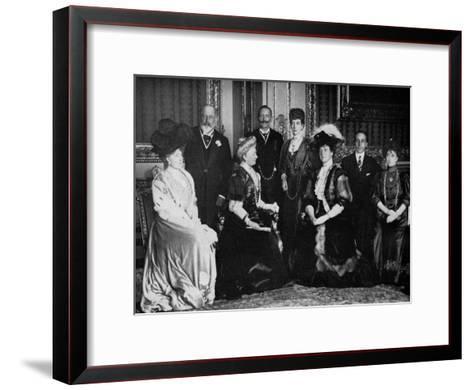 European Royalty at Windsor Castle, 17th November 1907--Framed Art Print