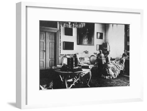 Tsarevich Alexander and Grand Duchess Maria Feodorovna of Russia, C1880--Framed Art Print