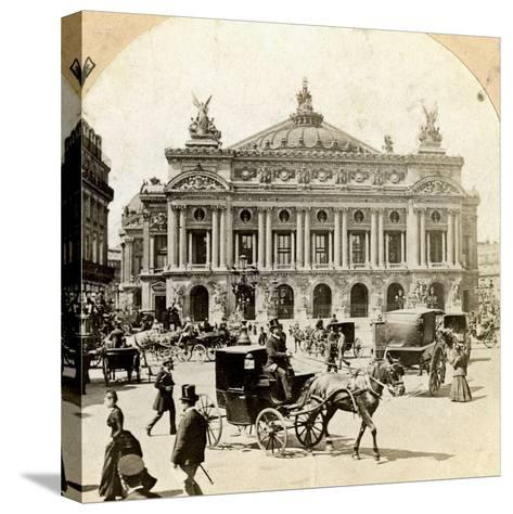 Grand Opera House, Paris, Late 19th Century- Griffith and Griffith-Stretched Canvas Print