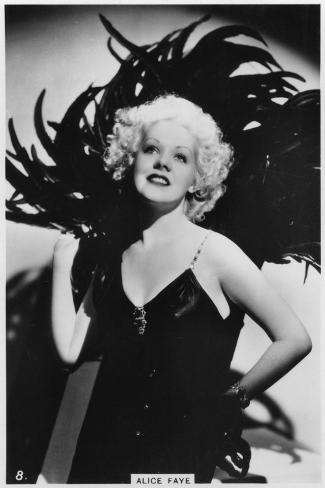 Alice Faye, American Actress and Singer, C1938--Stretched Canvas Print