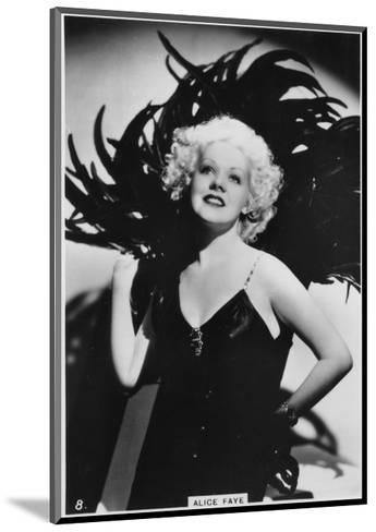 Alice Faye, American Actress and Singer, C1938--Mounted Giclee Print