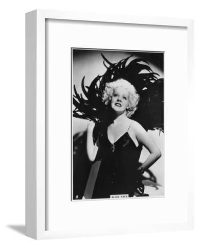 Alice Faye, American Actress and Singer, C1938--Framed Art Print