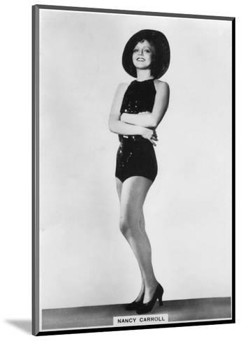 Nancy Carroll, American Film Actress, 1938--Mounted Giclee Print