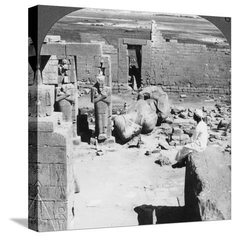 View from the Ramesseum Southeast over the Plain of Thebes, Egypt, 1905-Underwood & Underwood-Stretched Canvas Print