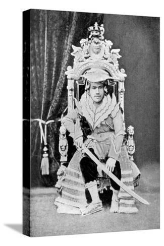 King Thibaw of Burma in Full Court Dress, C1900--Stretched Canvas Print