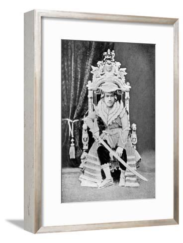 King Thibaw of Burma in Full Court Dress, C1900--Framed Art Print