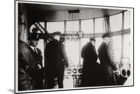 Pilot's Compartment, Zeppelin LZ 127 Graf Zeppelin, 1933--Mounted Giclee Print