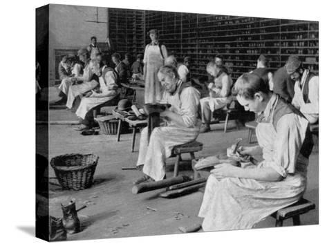 Cobbling, Earlswood Asylum, Reigate, 1904--Stretched Canvas Print