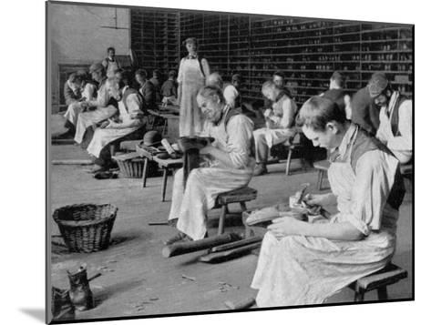 Cobbling, Earlswood Asylum, Reigate, 1904--Mounted Giclee Print