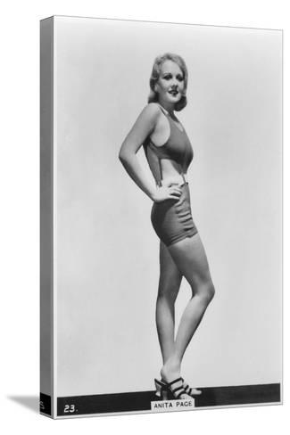 Anita Page, American Film Actress, C1938--Stretched Canvas Print