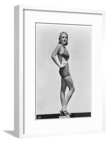 Anita Page, American Film Actress, C1938--Framed Art Print
