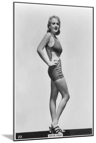 Anita Page, American Film Actress, C1938--Mounted Giclee Print