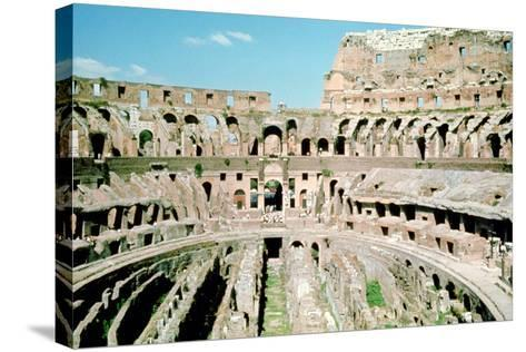 Inside the Colosseum, Rome, Italy--Stretched Canvas Print