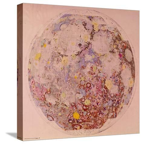 Geological Map of the Moon, 1967--Stretched Canvas Print