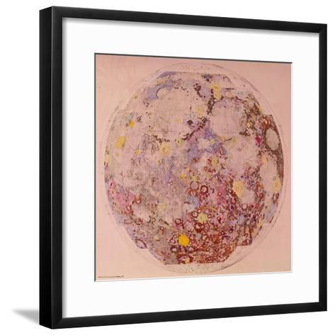 Geological Map of the Moon, 1967--Framed Art Print