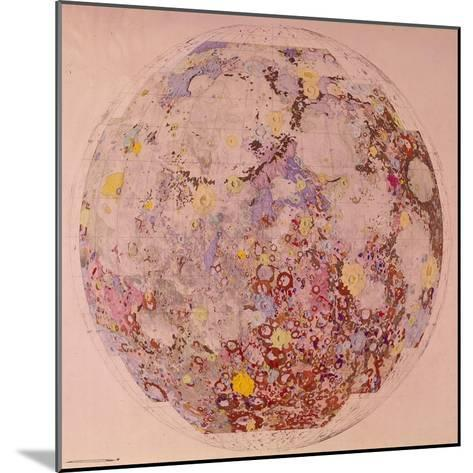 Geological Map of the Moon, 1967--Mounted Giclee Print