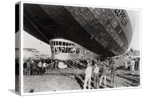 Zeppelin LZ 127 'Graf Zeppelin' after Landing, 1933--Stretched Canvas Print
